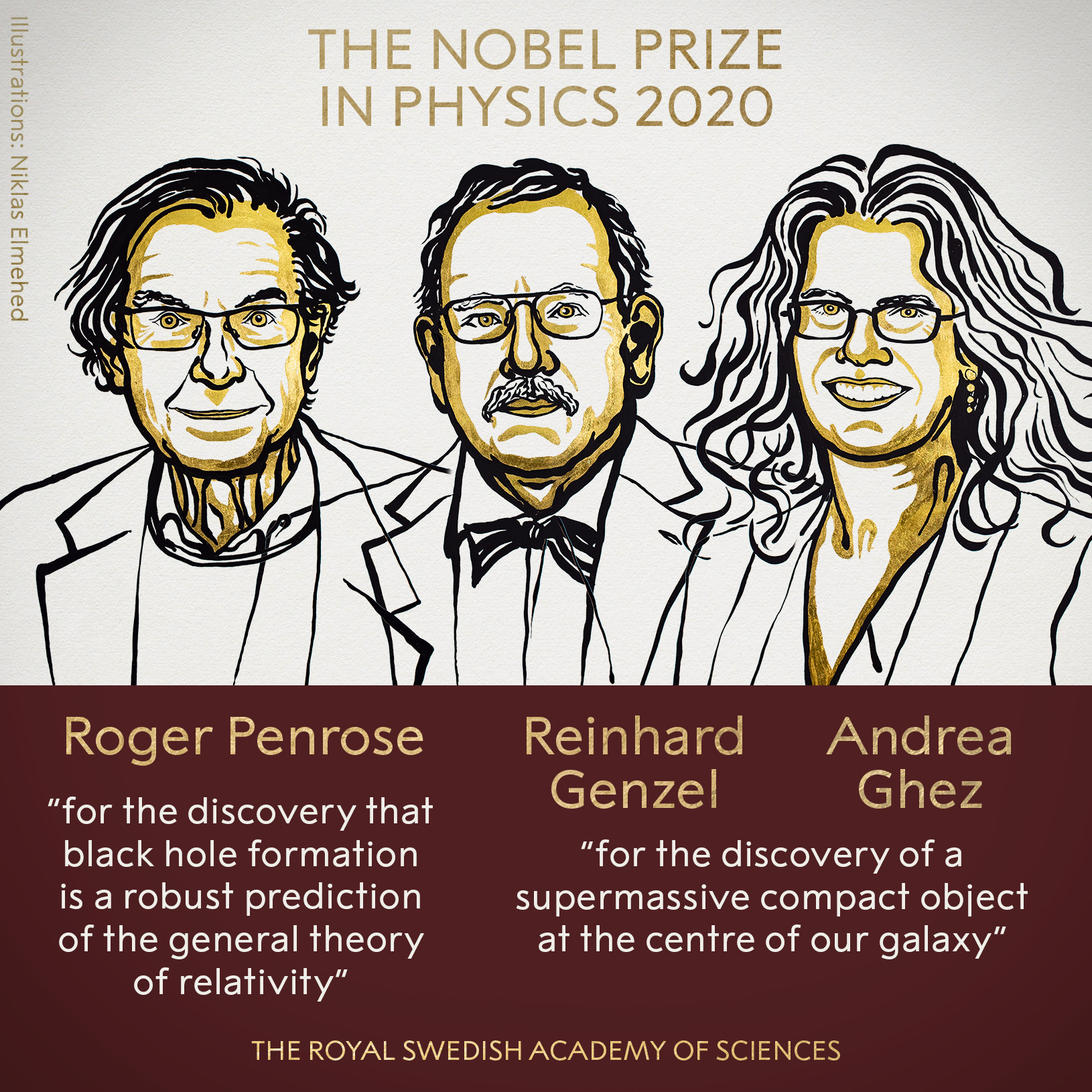 Three share Physics Nobel for their discoveries about black holes