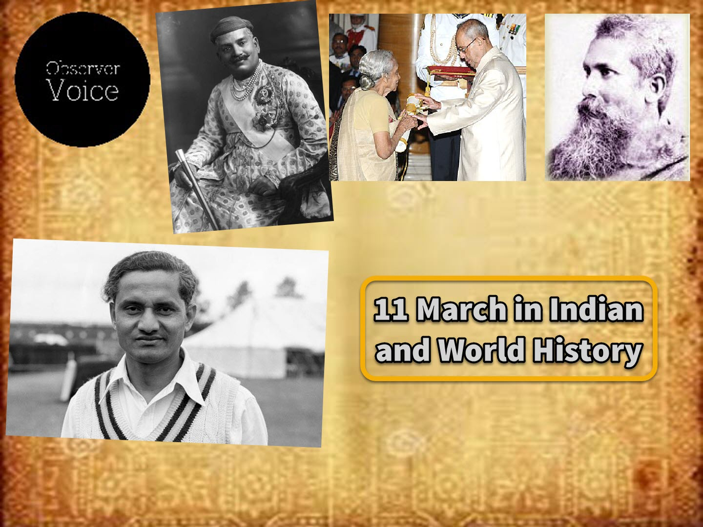 11 March in Indian and World History