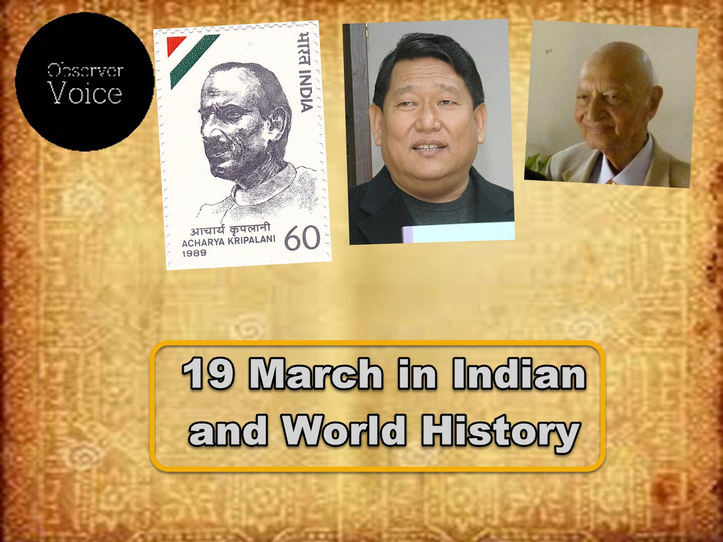 19 March in Indian and World History