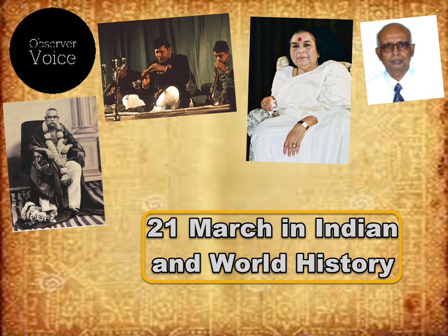 21 March in Indian and World History