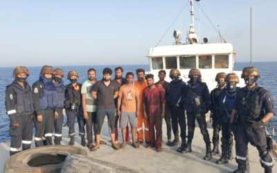 Indian naval ship assisted the stranded vessel at sea