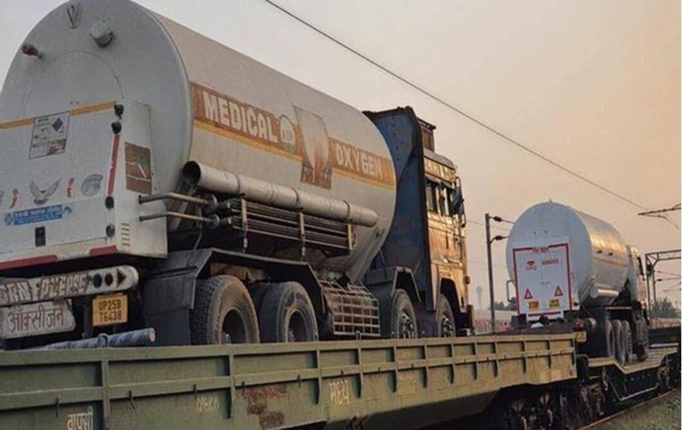 Oxygen Expresses deliver more than 2960 MT of LMO in 185 tankers to different states