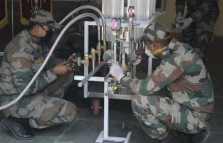 Indian Army innovate the conversion of liquid oxygen to low-pressure oxygen for COVID patients
