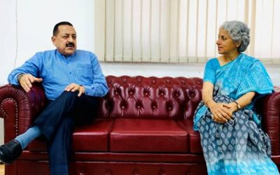 Chief Scientist, WHO Dr Soumya Swaminathan calls on Union Minister Dr Jitendra Singh